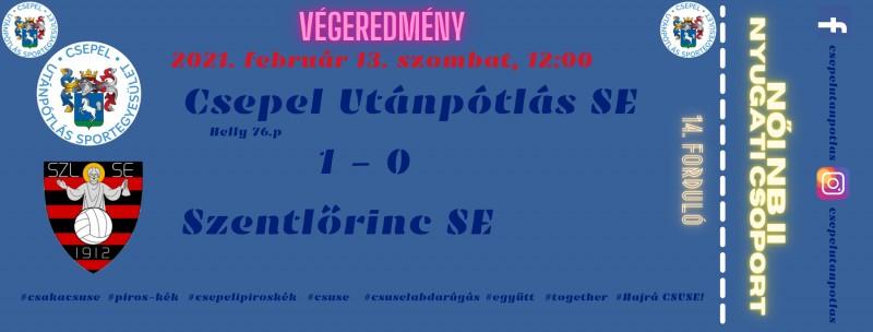 1-0-ra nyertünk a Szentlőrinc ellen